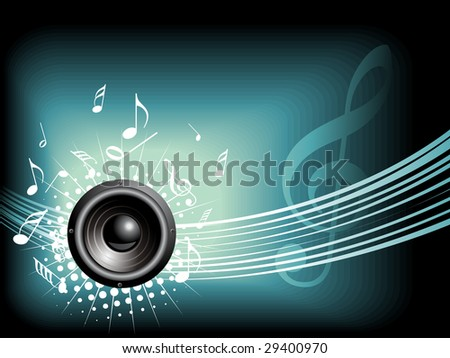 Music vector background with space for text - stock vector