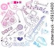 Music Vector Doodles - stock vector
