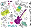 Music Vector Doodles - stock vector