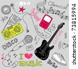 Music Vector Doodles - stock photo