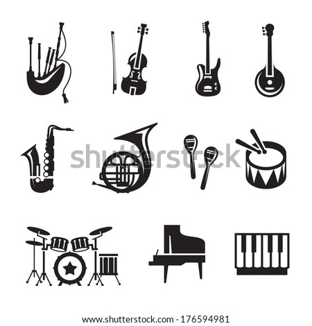 Music. Vector format - stock vector