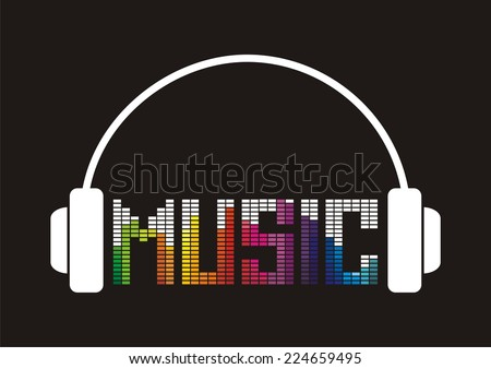 Music. Vector illustration. - stock vector