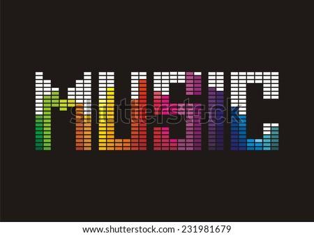 Music. Vector illustration.  - stock vector