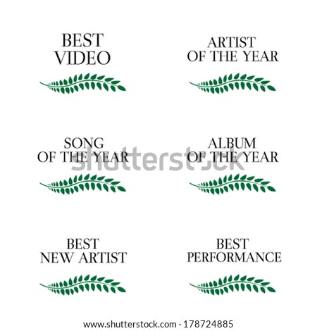 Music Video Awards Categories 3 - stock vector