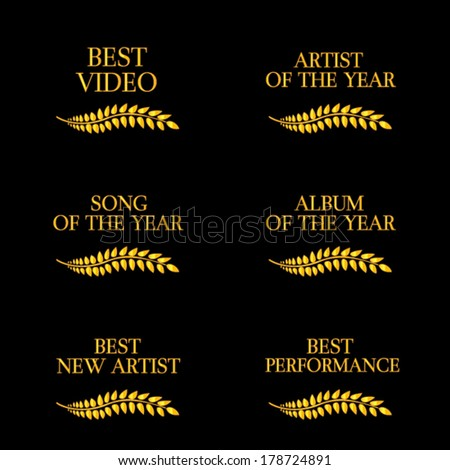 Music Video Awards Categories 4 - stock vector