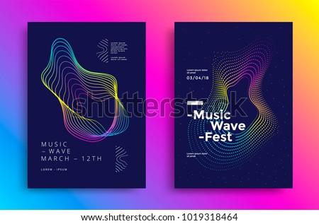 Line Art Poster Design : Set of brochure poster design templates in abstract vector