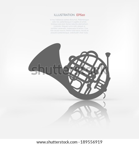Music wind instruments icon - stock vector