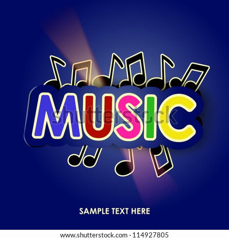music with lights, vector illustration - stock vector