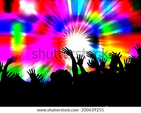 Musical background  - stock vector