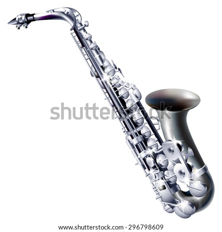 Musical background series. Classical saxophone alto. Vector illustration - stock vector