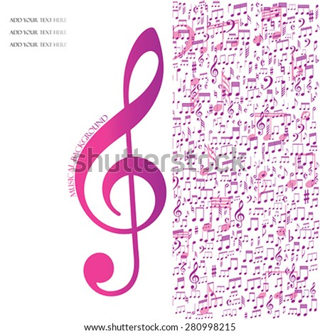 Musical background, vector - stock vector