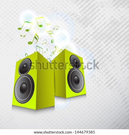 Musical background with loudspeakers.