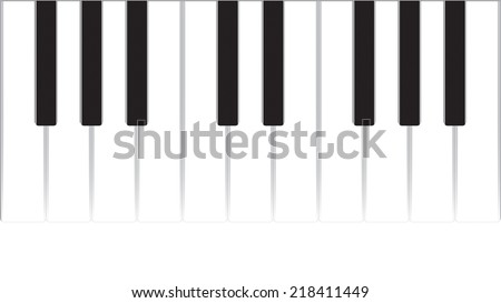 Musical background with piano. EPS vector illustration - stock vector