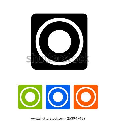 Musical column icon - stock vector