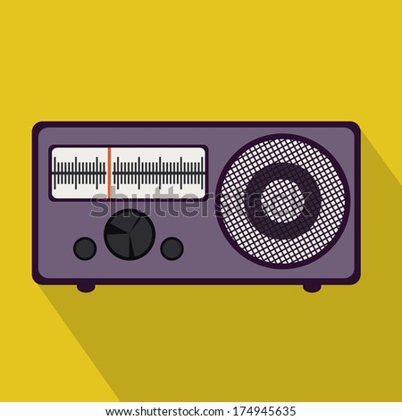 musical design over  yellow background vector illustration