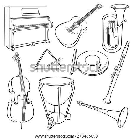 Musical Instrument - stock vector