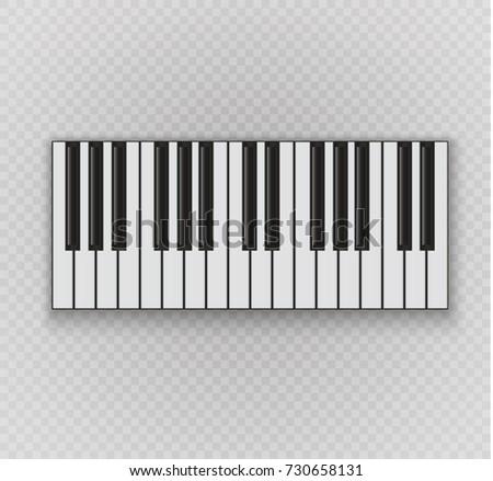piano keyboard notes staff on dark stock vector 526302256