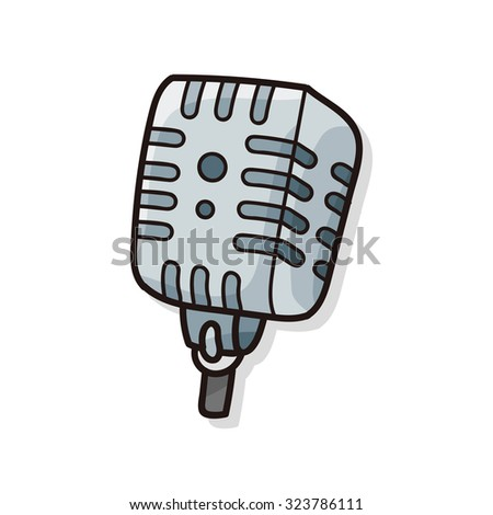 musical instrument microphone doodle