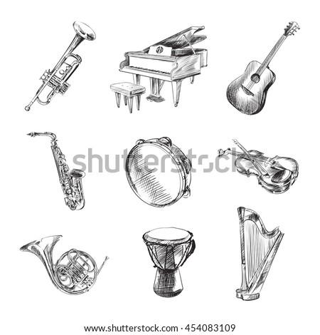 Violin Drawing Stock Images, Royalty-Free Images & Vectors ...  Violin Drawing ...