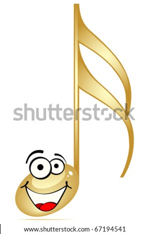 musical note - stock vector