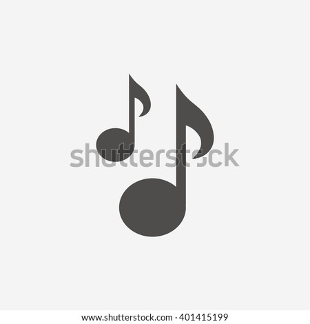 Musical note icon sign. Musical note icon flat design. Musical note icon for app. Musical note icon art. Musical note icon for logo. Musical note icon vector. Musical note icon illustration. - stock vector