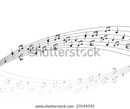 Musical note stuff  vector backgrounds with notes and lines - stock vector
