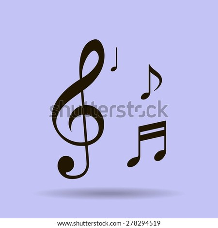 Musical note - Vector icon - stock vector