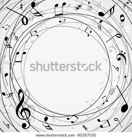 Musical notes background - stock vector