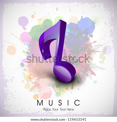 Musical notes. can be use as banner, tag, icon, sticker, flyer or poster.  EPS 10. - stock vector