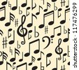 Musical Notes Seamless Pattern. - stock vector
