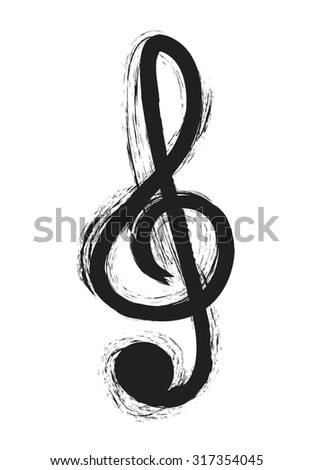 musical notes, treble clef, design element