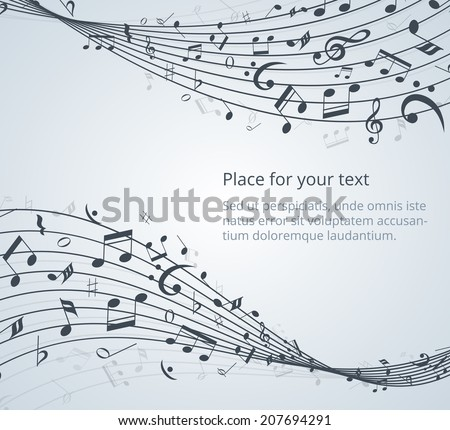 musical notes vector background with space for your text - stock vector
