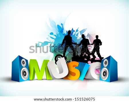 Musical parties background,  - stock vector