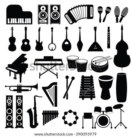 Musical set icon, Musical set icon eps10, Musical set icon vector, Musical set icon eps, Musical set icon jpg, Musical set icon path, Musical set icon flat, Musical set icon app, Musical set icon web - stock vector
