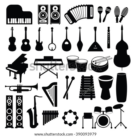 Musical set icon Vector Illustration on the white background. - stock vector