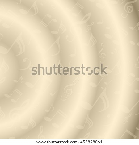musical symbols, musical notes, treble clef, yellow background vector - stock vector