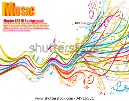 musical theme background with shine,vector Illustration - stock vector
