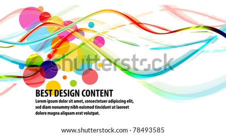 Musical theme background with waves circles and splash, Editable Illustration