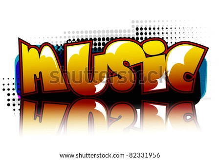 Musical theme disco background with circles and splash, vector Illustration - stock vector