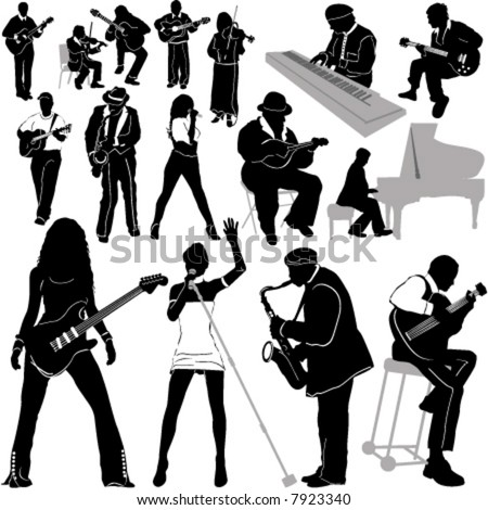 musician vector 4 (clothes detail) - stock vector