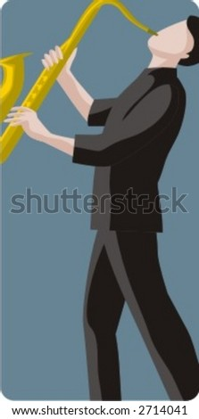 Musician vector illustration series. Musician. Check my portfolio for much more of this series as well as thousands of similar and other great vector items. - stock vector