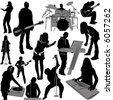 musician vector 2 (instrument detail) - stock vector