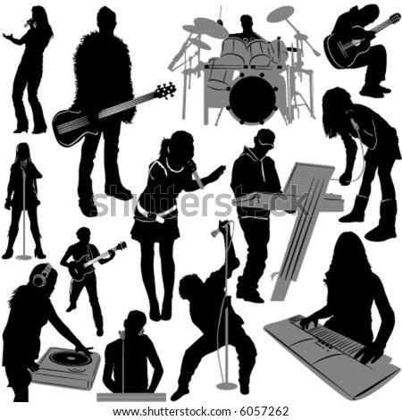 musician vector 2 (instrument detail) - stock vector