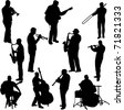 musicians collection - vector - stock photo