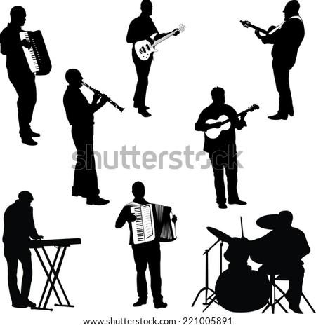 musicians collection - vector 1 - stock vector