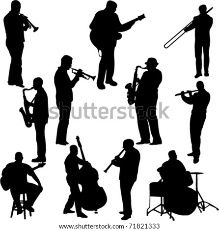 musicians collection - vector - stock vector