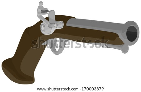 Musket -  Vector Artwork (isolated on white background). - stock vector