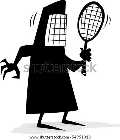 Muslim woman in Burqa looking at a mirror - stock vector