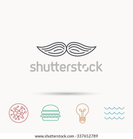 Mustache icon. Hipster symbol. Gentleman sign. - stock vector