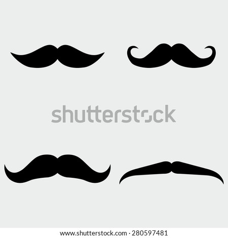 Mustache Icons - stock vector